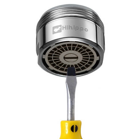 Aireador de ahorro de agua ajustable Hihippo SR 3.0 - 8.0 l/min - Rosca M24x1 externa - más popular