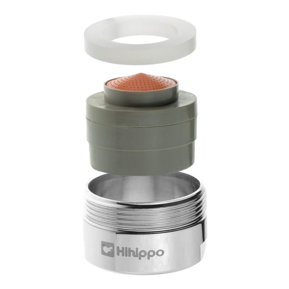 Aireador de ahorro de agua ajustable Hihippo R 1.8 - 8.0 l/min - Rosca M24x1 externa - más popular